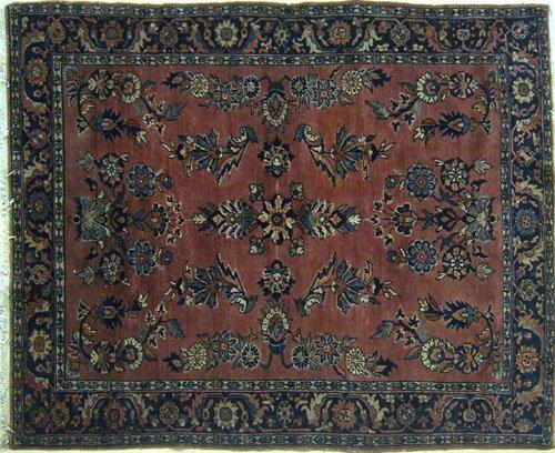 10: Sarouk throw rug, ca. 1920, 6' 4'' x 5' 3''.