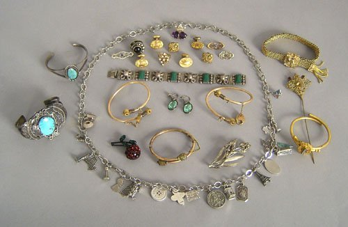 17: Misc. jewelry to include silver, turquoise, etc.