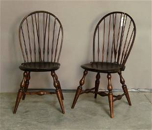 156: Set of six Wallace Nutting windsor dining chairs,