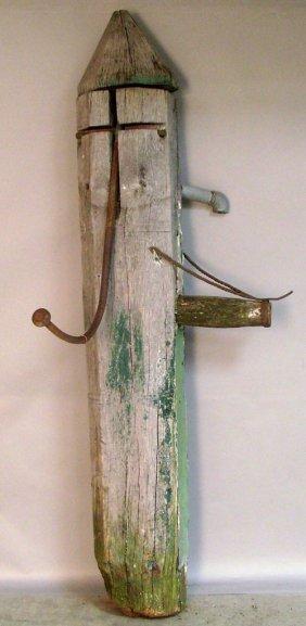 Cucumber Pump With Iron Hardware, 86'' H.