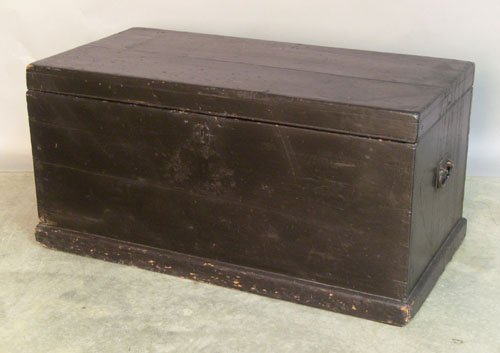 506: Black painted blanket chest, 19th c., 18 1/2'' h.,