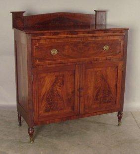 514: Late Federal  mahogany server, ca. 1830, 54'' h.,