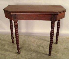 515: Sheraton mahogany card table, 19th c., 29'' h., 36
