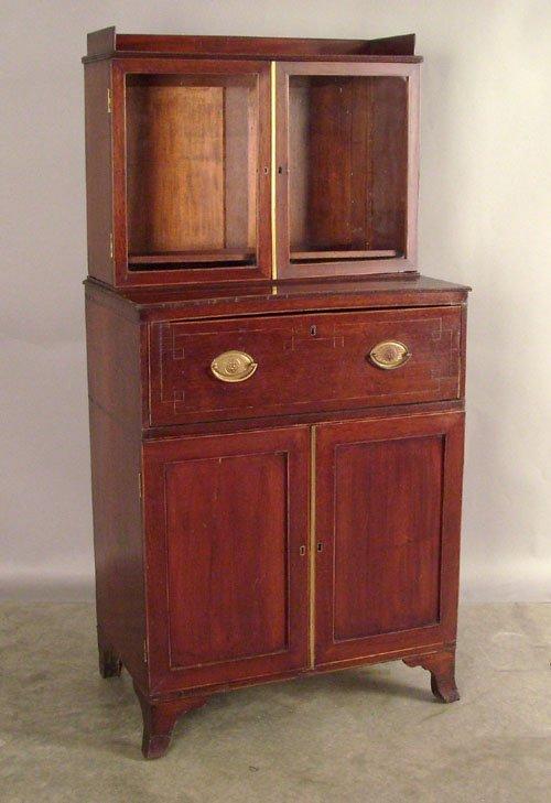 517: Regency mahogany two part butler's desk, early 19