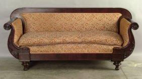 Classical Mahogany Sofa, Ca. 1835.