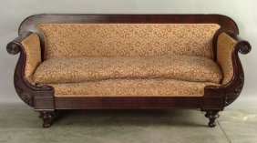 520: Classical mahogany sofa, ca. 1835.