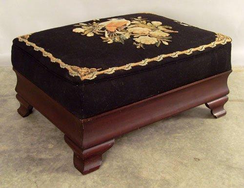 524: Large Empire mahogany ottoman, 19th c., 15'' h., 3