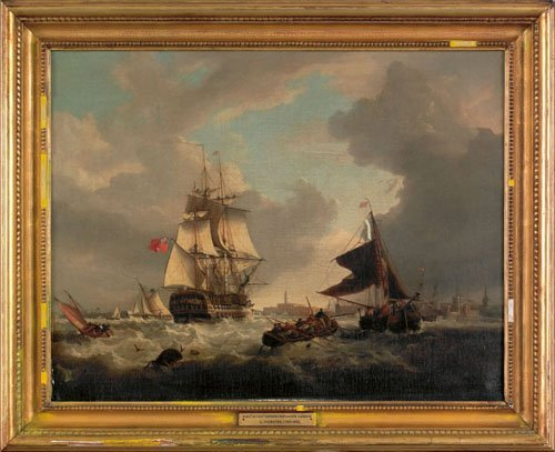 1: George Webster (British, 1797-1864), oil on can