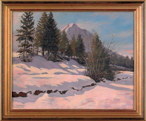 13: Walter Koeniger (American, 1881-1943), oil on c