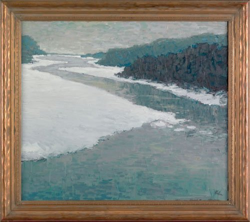 16: David Hahn (American, 20th c.), acrylic on canv