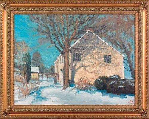 18: David Hahn (American, 20th c.), acrylic on canv