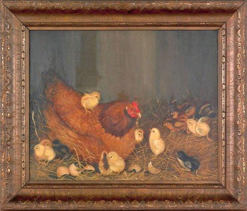 19: Ben Austrian (American, 1870-1921), oil on canv