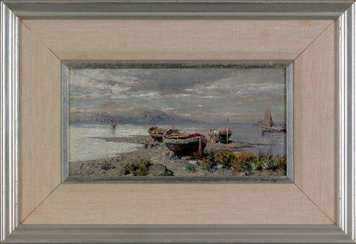 30: Giuseppe Carelli (Italian, 1858-1921), oil on b