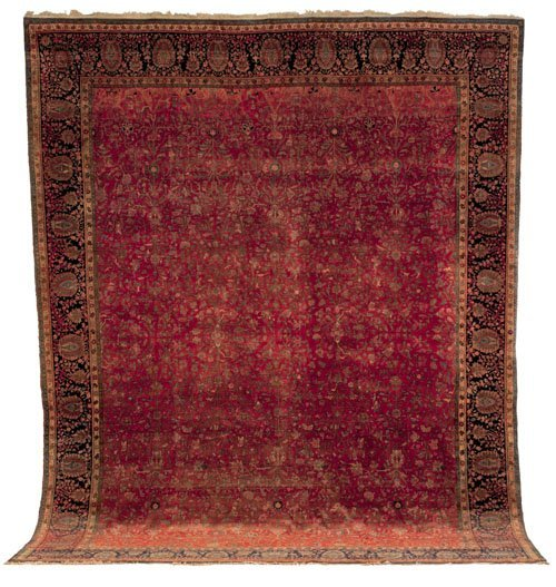 230: Mohtashem Kashan carpet, late 19th c., with ove