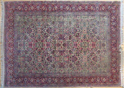 234: Kirman carpet, ca. 1930, with overall floral de
