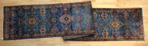 235: Kirman runner, ca. 1930, with floral design on