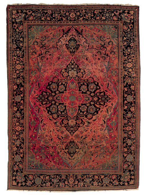238: Mohtashem Kashan rug, ca. 1900, with a central