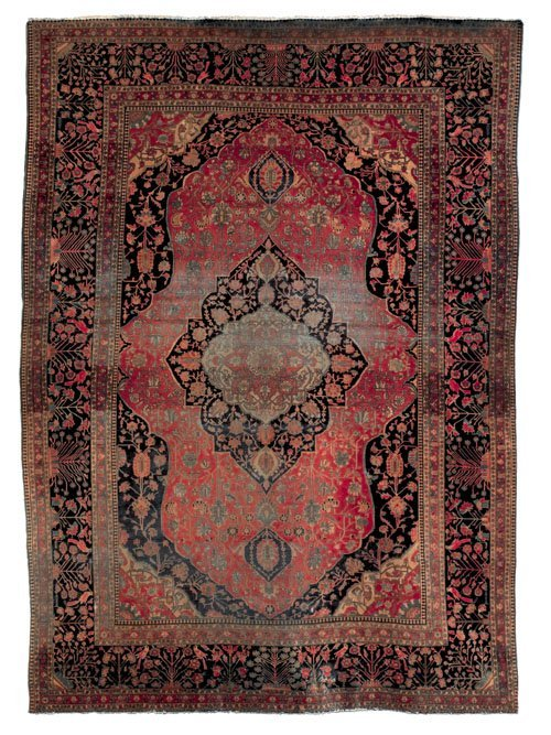 240: Mohtashem Kashan carpet, late 19th c., with a c