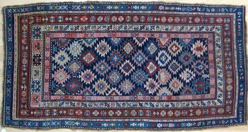 241: Caucasian rug, ca. 1910 with repeating geometri