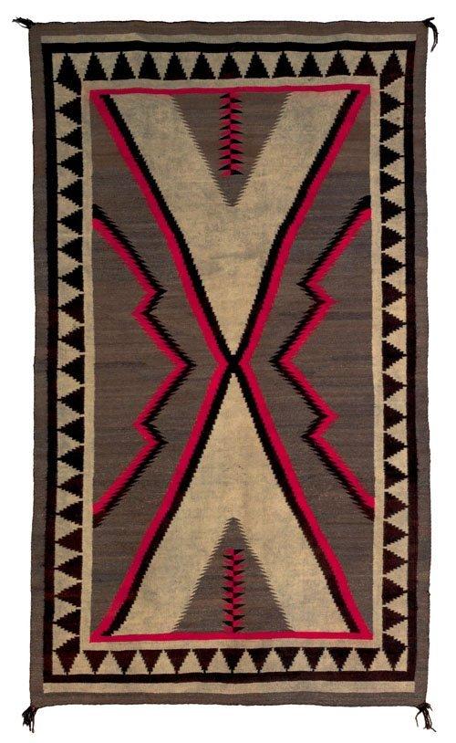 247: Navajo regional rug, ca. 1930, 105'' x 60''.