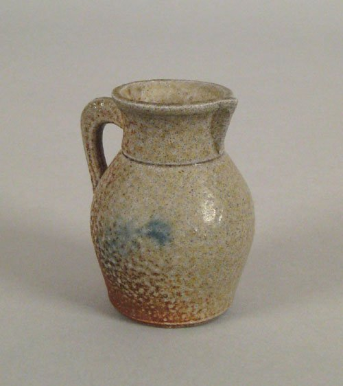 251: Miniature stoneware pitcher, late 19th c., with