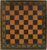 416: Painted gameboard, late 19th c., retaining a go