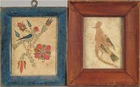 Two Southeastern Pennsylvania watercolor fraktur