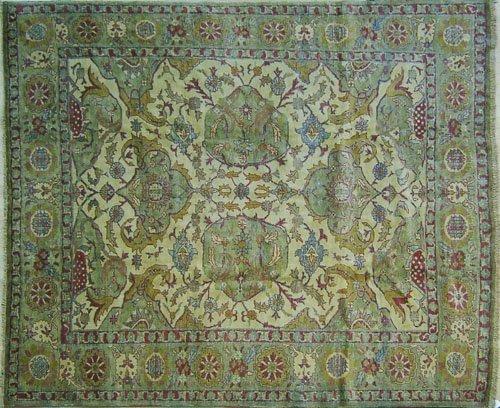 7: Oushak carpet, 8'9'' x 7'6''.