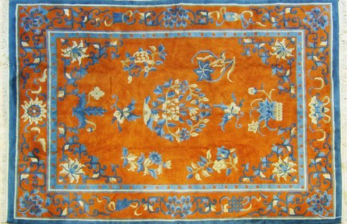 9: Chinese carpet, mid 20th c., 12' x 8'8''.