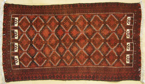 10: Hamadan throw rug, 6'9'' x 4'5'', together with a T