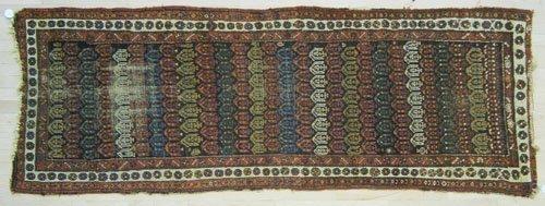 11: Hamadan long rug, ca. 1920, 9' x 3'3''.