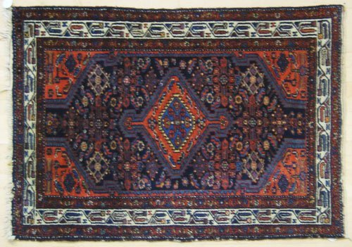 15: Three oriental throw rugs, 4'9'' x 3'5'', 6' x 3'6'