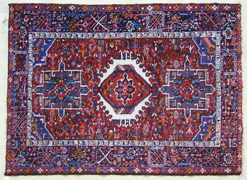 17: Garavan throw rug, ca. 1940, 6'4'' x 4'8''.