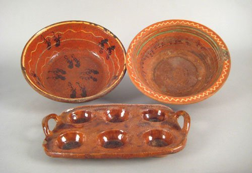 244: Pennsylvania or Maryland redware slip decorated