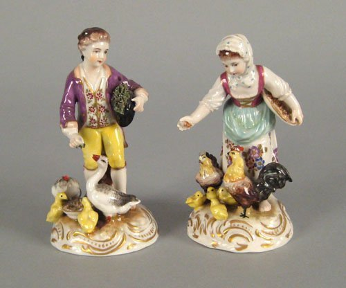 251: Pair of Royal Worcester children groups, 19th c.