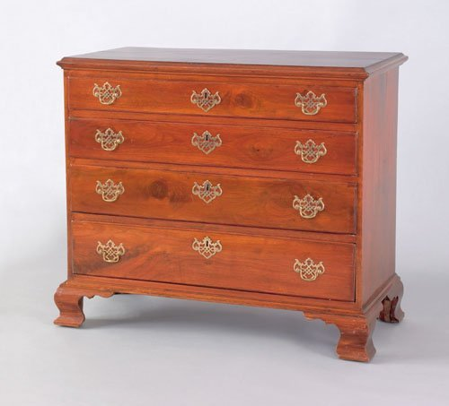 259: Pennsylvania Chippendale walnut chest of drawers
