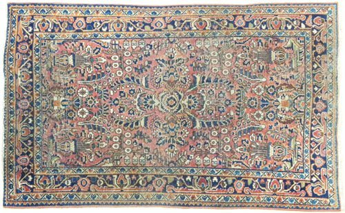 6: Sarouk carpet, ca. 1920, 5'2'' x 3'5''.