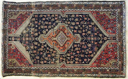 8: Hamadan carpet, ca. 1920, 7'4'' x 4'6''.