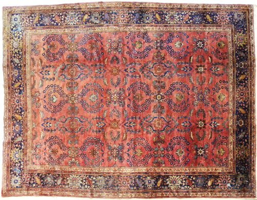 10: Sarouk carpet, ca. 1920, 12' x 9'.