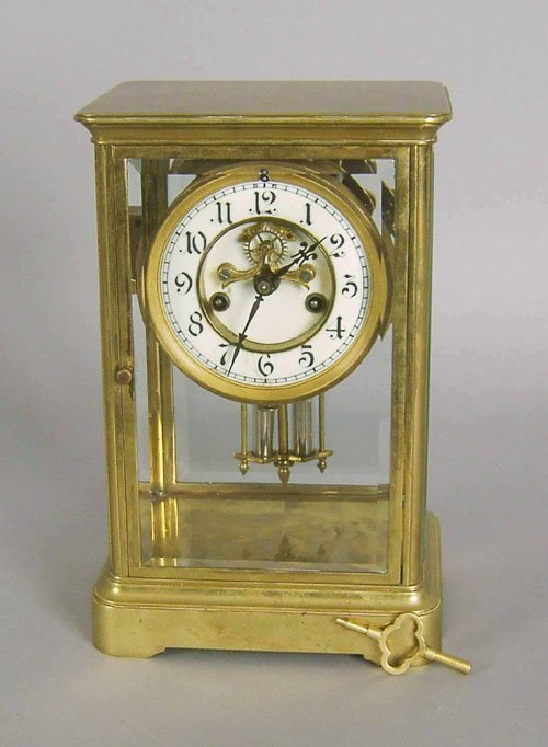 21: Waterbury regulator clock, 10 1/2'' h.