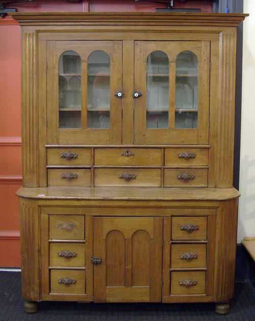 411: Victorian walnut kitchen cupboard, 72 1/4'' h. x 5