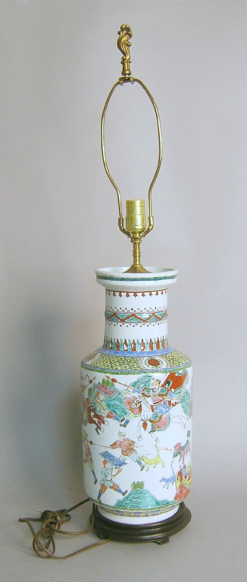 507: Chinese export porcelain table lamp.