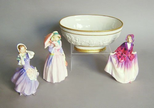502: Three Royal Doulton figures, 7 1/4'' h., together