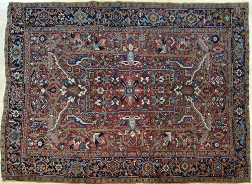 2: Heriz carpet, ca. 1940, with overall pattern on