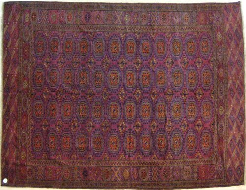 6: Salor Turkoman rug, ca. 1925, with octagon and
