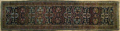 15: Hamadan runner, ca. 1930, with floral design on
