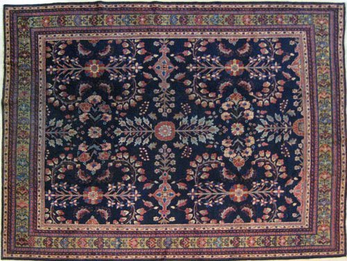 19: Mahal carpet, ca. 1910, with a floral pattern o