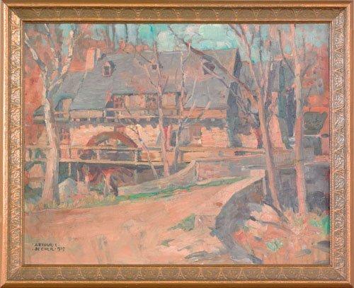19: Arthur Ernst Becher (American, 1877-1960), oil
