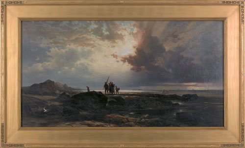 48: Edward Moran (American, 1829-1901), oil on canv