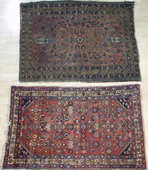 1: Two Hamadan carpets, early/mid 20th c., 6' 6'' x 4